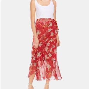 Vince Camuto Floral Wrap Skirt NWT